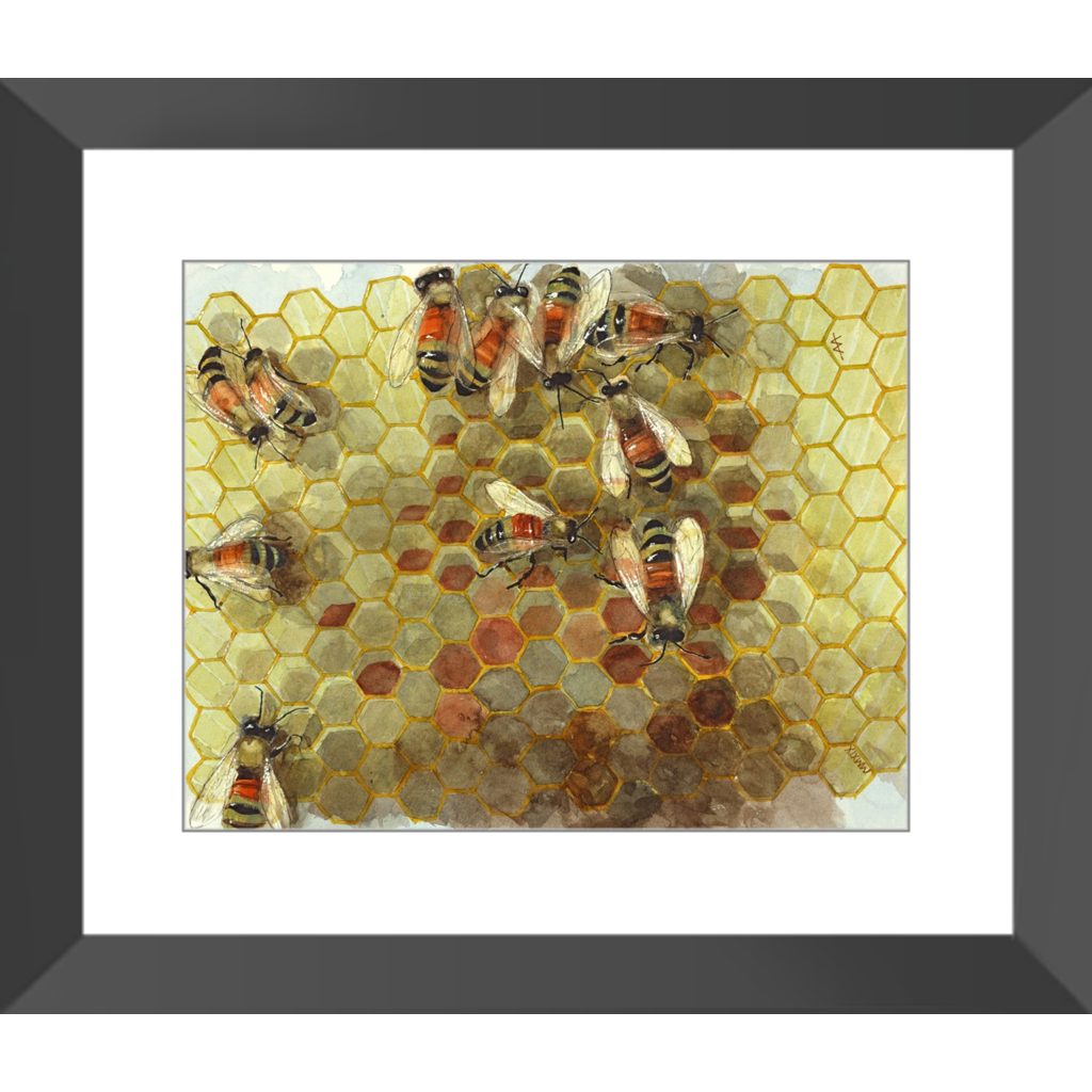 "Framed Art Print - ""Pollen Stores - Neutral"""