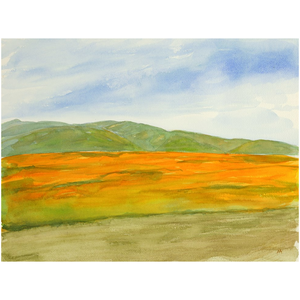 "Unframed Print  - ""Super Bloom Number Three, Carrizo Plain"""