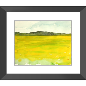 "Framed Art Print - ""Super Bloom Number Four, Carrizo Plain"""