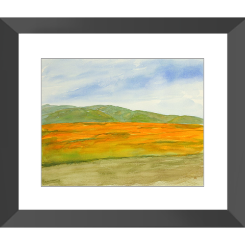 "Framed Art Print - ""Super Bloom Number Three, Carrizo Plain"""