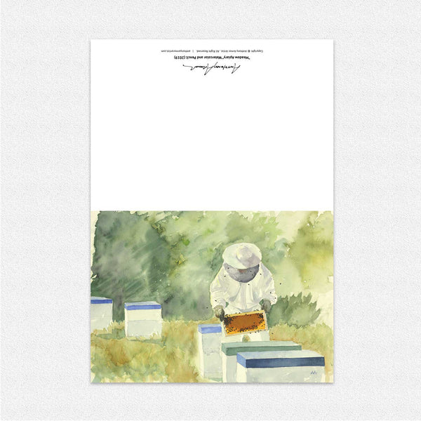 "Box of 10 Note Cards - ""Meadow Apiary"""