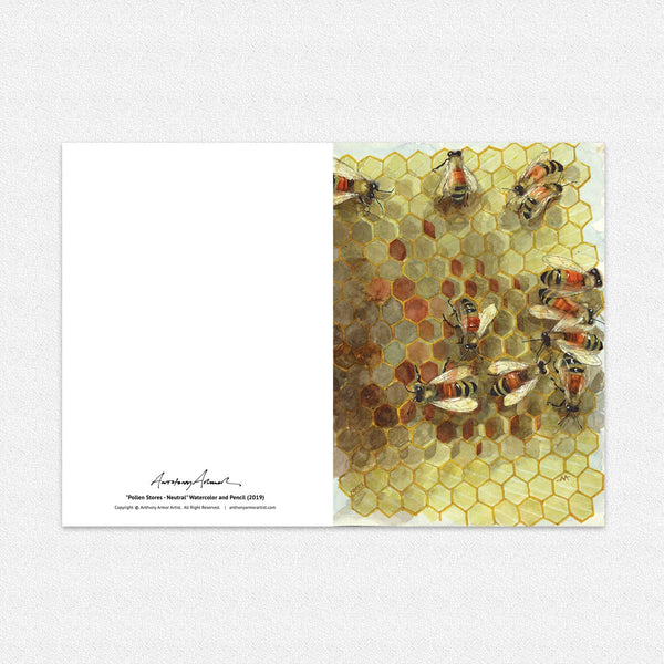 "Box of 10 Note Cards - ""Pollen Store - Neutral"""