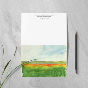 "Box of 10 Note Cards - ""Super Bloom Number Two, Carrizo Plain"""