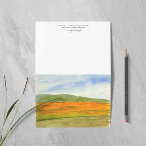 "Box of 10 Note Cards - ""Super Bloom Number Three, Carrizo Plain"""