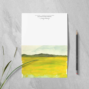 "Box of 10 Note Cards - ""Super Bloom Number Four, Carrizo Plain"""
