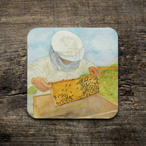 "Coasters - ""Bees & Bee Keepers"" Art Series"
