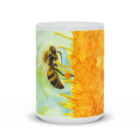 """Foraging Honey Bee"" Mug"