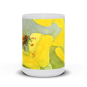 "Mug - ""Honeybee on Scotch Broom"""