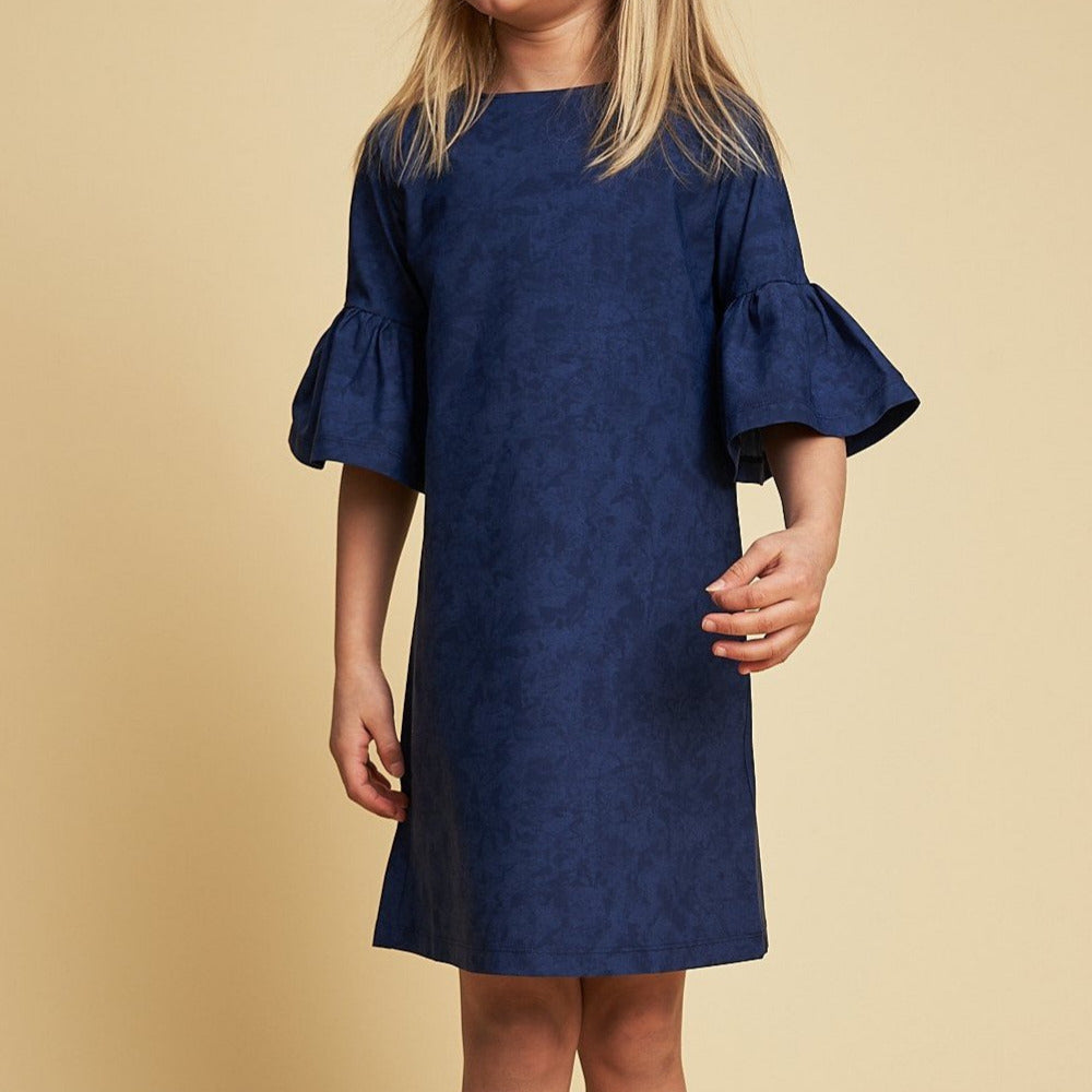 Emilia UV Tunic Dress in Blue Suede