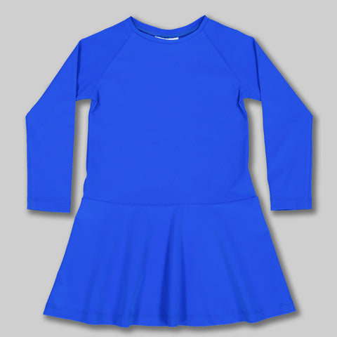 Minnie Long Sleeved UV Dress in Electric Blue