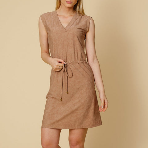 Mykonos UV dress camel