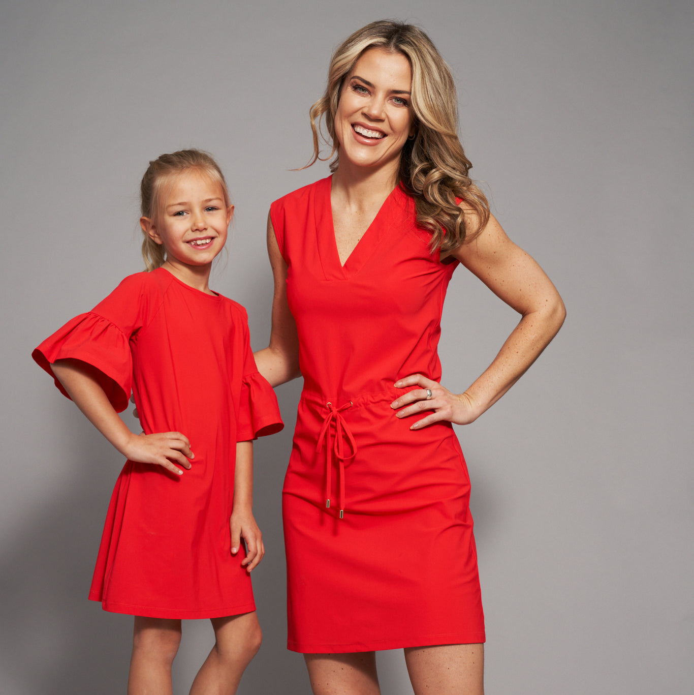 Emilia UV Tunic Dress in Scarlet