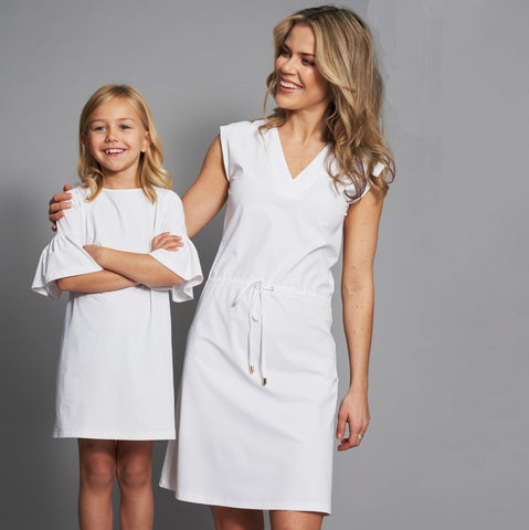 Emilia UV Tunic Dress in White
