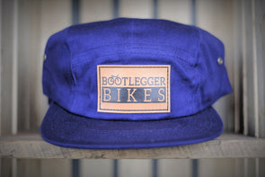 Bootlegger Bikes 5-Panel Leather Patch Hat