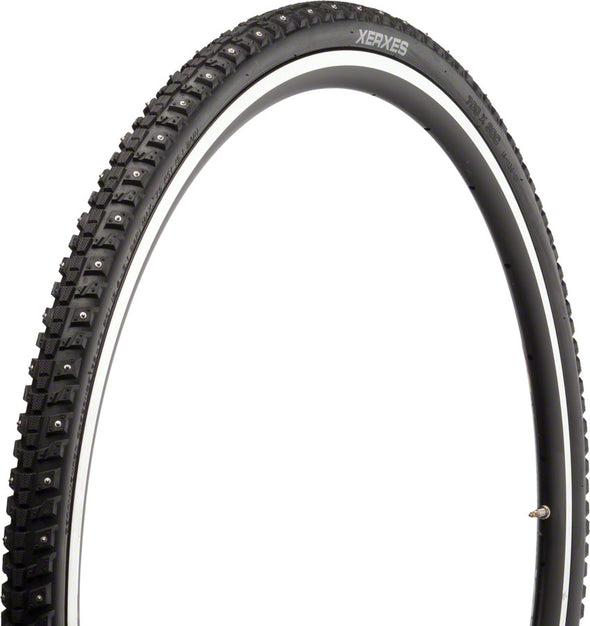 45NRTH Xerxes Tire - 700 x 30, Clincher, Steel, Black, 33tpi, 140 Carbide Steel Studs