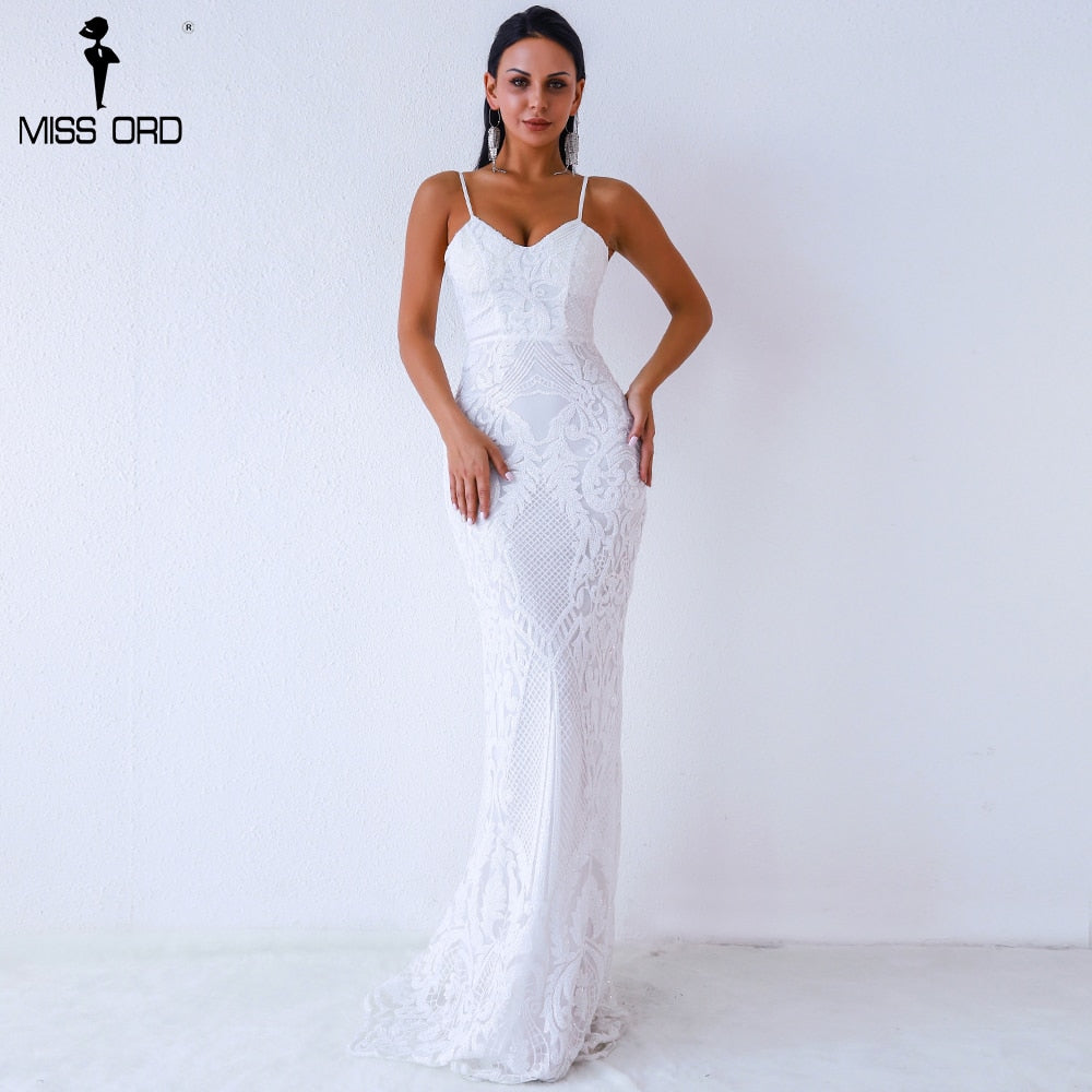 c7bbac40cd222 Missord 2019 Women Sexy V Neck Off Shoulder Backless sleeveless sequin Dresses  Female Elegant Party Maxi
