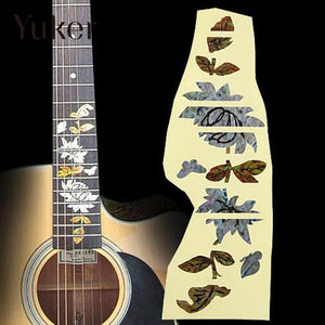 Guitar Bass Acoustic Electric Fingerboard Keyboard Stickers Inlay Decals Decoration Accessories