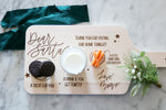 custom santa treat board | personalized