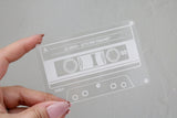 custom retro vintage cassette tape keepsake