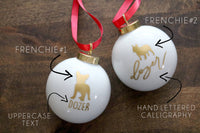 custom pet silhouette christmas ornament