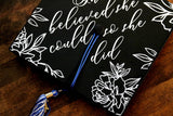 custom graduation cap topper with floral design | grad cap topper | personalized graduation cap | graduation cap topper | cap decal sticker