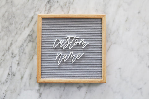 "custom 2"" calligraphy name or word for felt letter board"