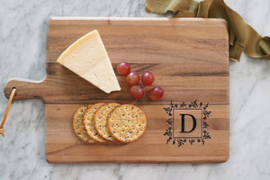 personalized letter wood cutting board | custom cutting board | personalized wedding gift | housewarming | charcuterie | engraved