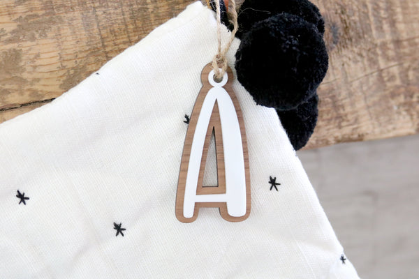 custom stocking letter tag
