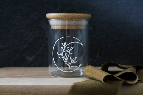 floral moon stash jar | SHORTY