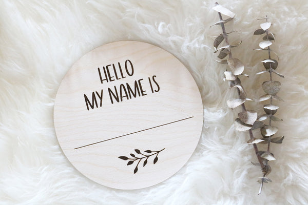 hello my name is wood birth announcement