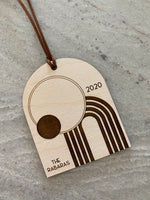mid century modern wood christmas ornament | 01
