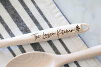 personalized wooden kitchen spoon