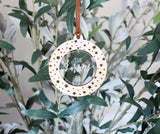 personalized christmas star wood + acrylic ornament