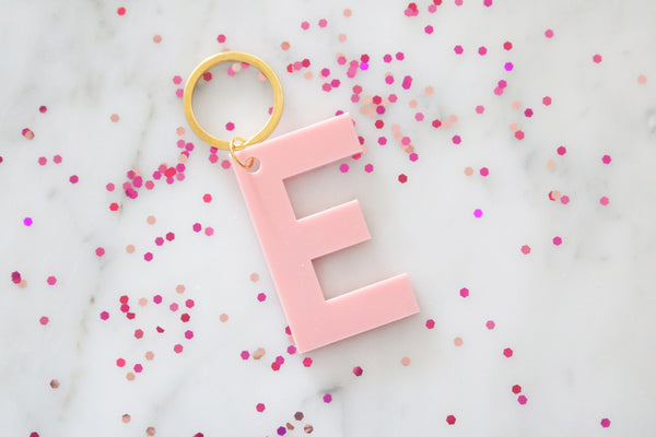 colorful letter keychain | CHOOSE YOUR COLOR | birthday gift | gifts for her back to school | personalized | gift | bridesmaid | key chain