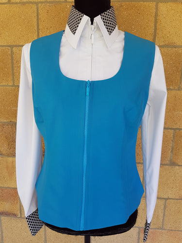 Show Vest / Turquoise - Rawhide Western Wear