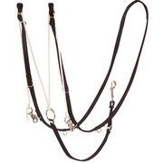 8299 - Nylon Webbing German Martingale with Comp Reins - Rawhide Western Wear