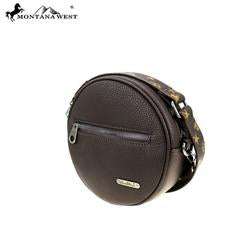 MW903118 Montana West Signature Monogram Collection Circle Bag/ Crossbody - Rawhide Western Wear