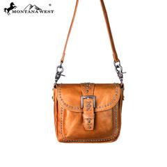 RLCL089 Montana West Real Leather Collection Crossbody - Rawhide Western Wear