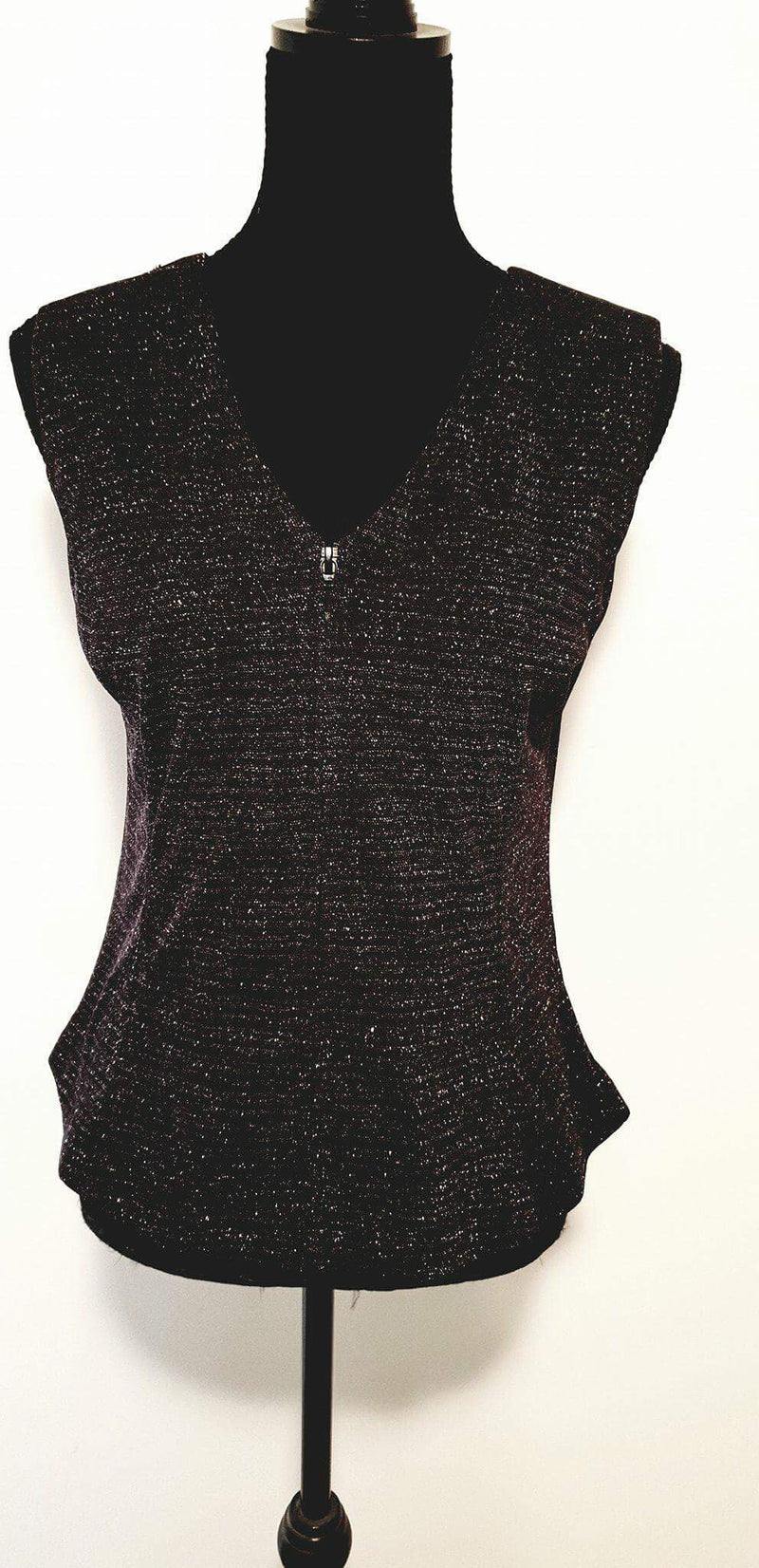 Ladies Black Glitter Vest - Rawhide Western Wear