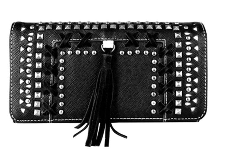 MW650-W018 Montana West Cut-out Collection Wallet/Wristlets - Rawhide Western Wear