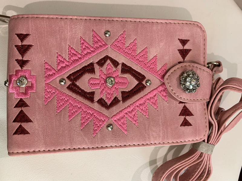 PHB002 Bling Mini Crossbody Bag Mobile Phone Pouch - Rawhide Western Wear