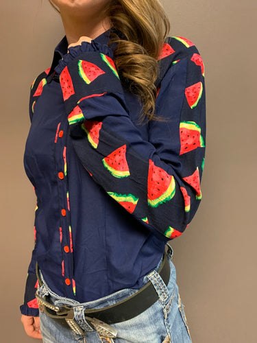 L1311 Melon Ladies Shirt - Rawhide Western Wear
