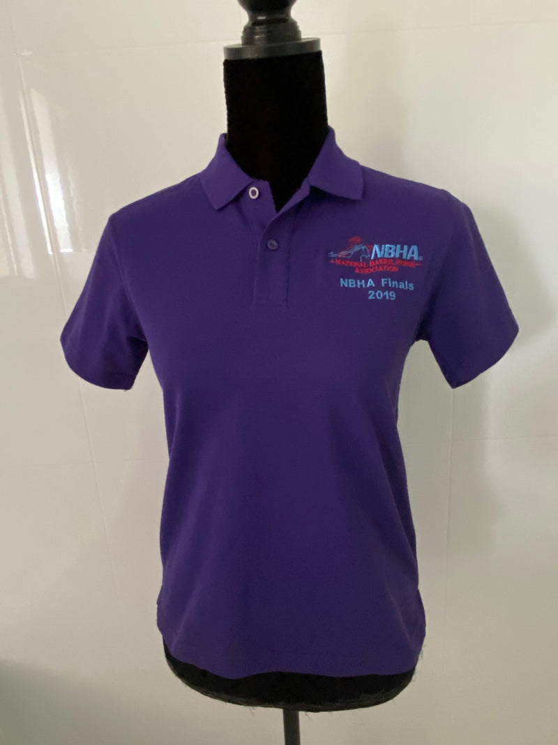 NBHA NATIONAL SHOW 2019 Kids/Small Ladies PURPLE Cotton Polo