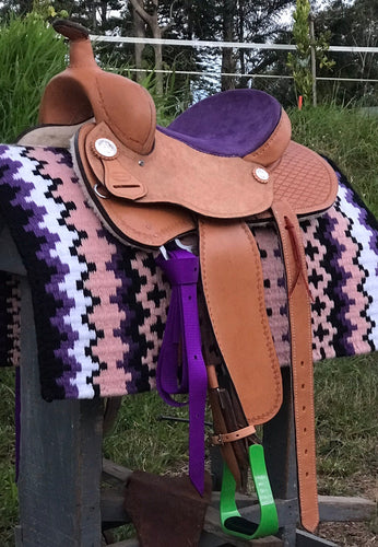 Custome Made Barrel Racing Saddle - Rawhide Western Wear