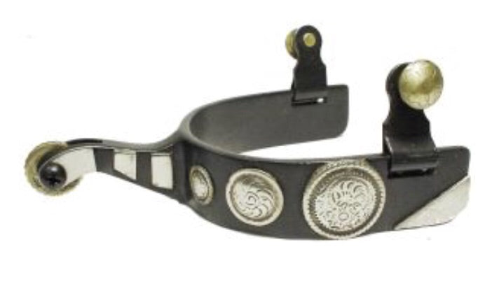 08797  - Roping Spur Black Mens - Rawhide Western Wear