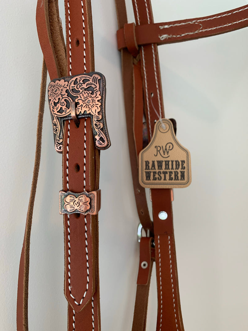 T5137  - Double Stitched Bridle - Lace Ends - Rawhide Western Wear