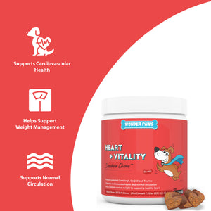 wonder paws benefits of cardio supplement  cardiovascular health - weight management - normal circulation