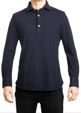 Load image into Gallery viewer, L/S Polo- Navy
