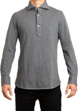 Load image into Gallery viewer, L/S Polo- Grey