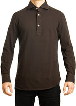 Load image into Gallery viewer, L/S Polo- Brown